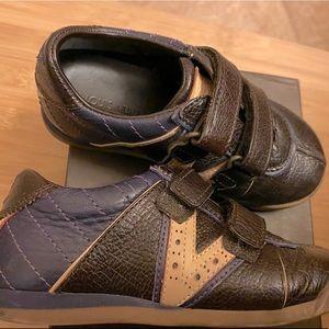 LOUIS VUITTON Zephyr Brown/Purple Leather Sneakers